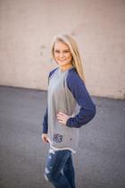 Hampton Hi-Lo Raglan Sweatshirt - Navy