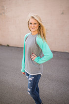 Hampton Hi-Lo Raglan Sweatshirt - Mint