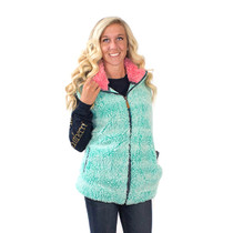 Simply Southern Sherpa Vest - Seaglass