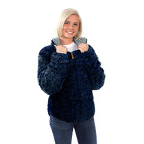 Simply Southern Sherpa Pullover - Navy