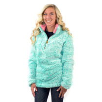 Simply Southern Sherpa Pullover - Seaglass