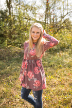 Brooke Floral Baby Doll Top