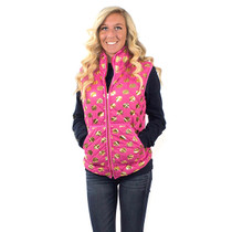 Simply Southern Quilted Vest - Pink