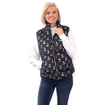 Simply Southern Quilted Vest - Navy