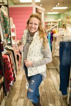 Simply Southern Quilted Vest - Cream