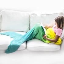 Mermaid Blankie Tail - Yellow/Aqua Ombre