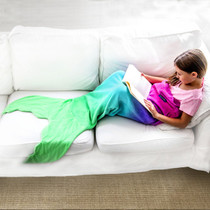 Mermaid Blankie Tail - Pink/Aqua Ombre