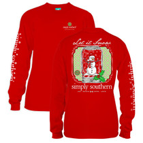YOUTH Simply Southern LS Tee - Snow