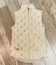 YOUTH Simply Southern Quilted Vest - Cream