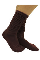 Ruffle Boot Socks - Burgundy