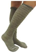 Ruffle Boot Socks - Grey