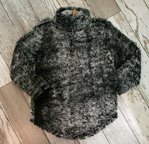 YOUTH Simply Southern Sherpa Pullover - Steel