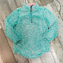 YOUTH Simply Southern Sherpa Pullover - Seaglass