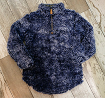 YOUTH Simply Southern Sherpa Pullover - Navy