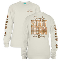 YOUTH Simply Southern LS Tee - Preppy Deer Logo