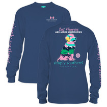 YOUTH Simply Southern LS Tee - Preppy Out