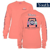 YOUTH Simply Southern LS Tee - Preppy Best