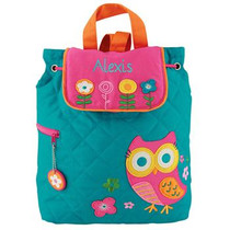 Quilted Backpack - Owl
