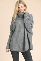Arden Chunky Knit Sweater - Gray