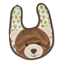 Applique Single Burp Cloth - Cocoa Bear