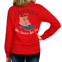 America Duck Boot LS Tee