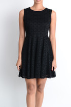 Faith Lace Fit and Flair Dress - Black