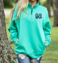 Crosswind 1/4 Zip Pullover - Mint