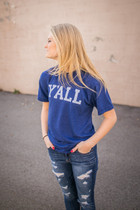 Y'all Short Sleeve Tee - Blue