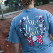 Hey Y'all Short Sleeve Tee - Stone Blue