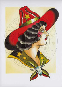 Ben Stone Cowgirl Greeting Card