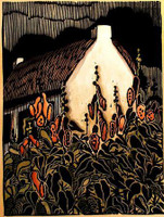 Irish Cottage Print by Kathleen West