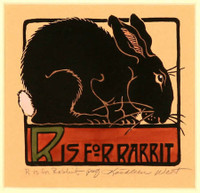 R is for Rabbit Print