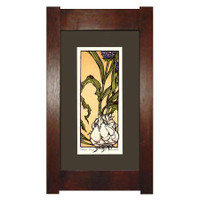 Framed Garlic Print