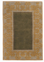 The Chinese Lantern rug in Spruce.