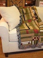 Frank Lloyd Wright Oak Park Skylight Throw Blanket