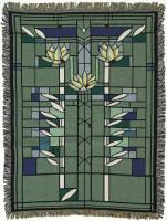Waterlilies throw blanket