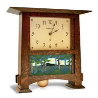 Craftsman Horizontal Tile Clock with 4x8 Landscape Tile