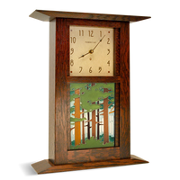 Arts & Crafts Clock with 6x8 Landscape Tile