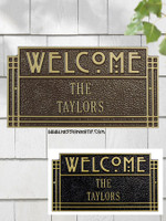 Arts and Crafts Welcome Wall Plaque