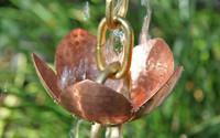 Tara Flower Copper Rain Chain