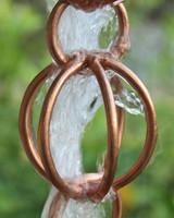 Triple Loop Copper Rain Chain