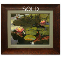 Pond Scape Oil Painting by Jan Schmuckal