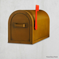 Arched Post Mount Mailbox