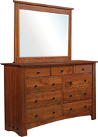Old Glasgow Mission Dresser and Mirror
