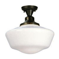 "16"" Schoolhouse Semi-flush with Traditional Shade 30268"