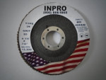 "4-1/2x7/8"" Type 27 Fiberglass Backed 80grit Zirconia Flap Disc"
