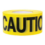 "3""x1000' 2mil Yellow ""Caution"" Barricade Tape"