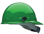 Green Thermal Plastic Hard Hat W/QuikLok and Ratchet Suspension