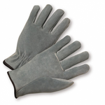 Large Split Leather Calf Straight Thumb Driver's Glove 1dz