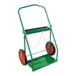 """Cylinder Cart - Large Oxy/Fuel Gas Twin Cyliner Cart w/16""""x4"""" semi-pneumatic tires"""